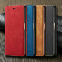 For Huawei P Smart 2020 P40 Lite P30 Pro Magnetic Wallet Flip Leather Case Cover