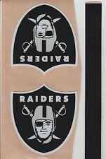 Oakland Raiders FULL SIZE FOOTBALL HELMET DECAL W/STRIPE & BUMPERS