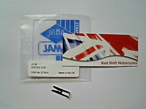 AMAL (Slide) NEEDLE CLIP. Monobloc 375 376 389 NEW Genuine 4/230. AJS BSA Ariel.