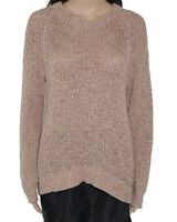 Madewell Women Sweater Caramel Brown Size Small S Marled Knit Pullover $98- #165