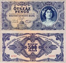 HUNGARY 500 Pengo Banknote World Paper Money VF+ Currency Pick p117 1945 Bill