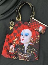 Disney Loungefly Alice in wonderland queen of hearts canvas tote bag with wallet