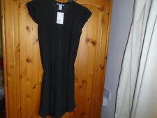 Pretty black floaty lined knee length dress, H&M, size 8, NEW w TAG (BNWT)