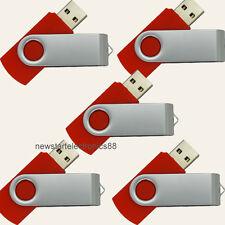Lot 5 4G 4GB USB Flash Drive Memory Pen Key Stick Bulk Wholesale Red 03