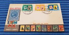 1967 Malaysia First Day Cover Centenary Pos 1867-1967 Straits Settlements & Bird