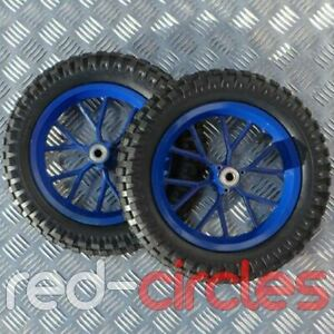 BLUE 47cc 49cc MINI MOTO DIRT BIKE WHEELS SET WITH TYRES (12.5 x 2.75 MINIMOTO)
