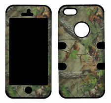 Hybrid Tuff Pine  Camo for Apple Iphone 5 Case Cover