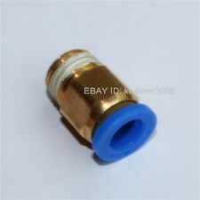5pcs Male Straight Connector Tube OD 8mm to Thread 1/4