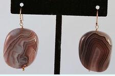 Greenwood Designs Polished Agate 14k gf Gold French Hook Earrings