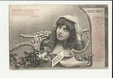 cartolina calendario mese dicembre decembre 1904 noel natale