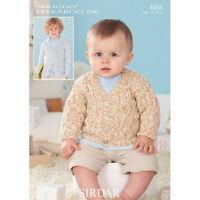 Sirdar Baby Knitting Pattern - 4458 - Sweaters - Snuggly Peekaboo DK