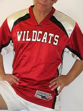 Rawlings Wildcats Baseball, Red, White, Black Jersey, Mens Size Medium