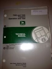 7200 and 7400 Tractors Operation and Test Techinical Manual *Oem*