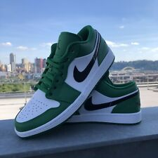 Air Jordan 1 Low. Pine Green. Black. White. Mens 11.5. Deadstock.