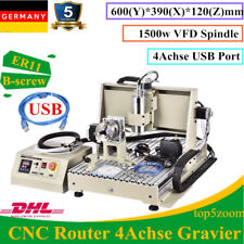USB 4 Axis 6040 CNC Router Engraving Machine Wood PVC POM ABS Aluminum Milling