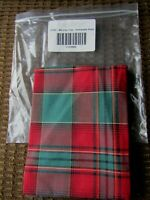 Christmas Hostess Serving Tray Liner from Longaberger Evergreen Plaid Fabric NEW