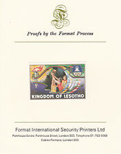 Lesotho 2630 - 1984 OLYMPICS Basketball on Format International PROOF  CARD