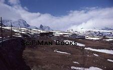 KODACHROME 35mm Slide Switzerland Zermatt Gornergrat Train Railway Alps 1979!!!
