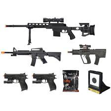 7 PC AIRSOFT GUNS SET SPRING SNIPER RIFLE HAND PISTOLS w/ 1000 6mm BB BBs Lot