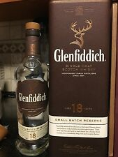 GLENFIDDICH WHISKY BOX EMPTY 18 YEARS OLD BOX. COLLECTIBLE!!!