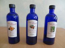 Eau florale_Grasse_Trois Flacons de 200 ml: Mélisse, Fleur d'oranger, Rose