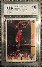 Michael Jordan 1991 - 92 Upper Deck Promos # 1 BCCG 10 Beckett