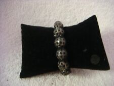 Shamballa style bracelet in black and grey