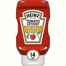 New listing Heinz No Salt Added Tomato Ketchup Inverted Bottle 14 oz Bottle Date 10/16/21