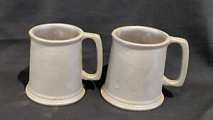 "Set Of 2 Small Wilton Pewter Plough Satin Mug Cup Noggin ~3 1/2""~Armetale"