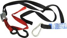 Tie Downs 25mm wide Red/Black with hook & snap hook