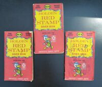 Lot of Vintage Holden Trading Stamps Red Stamps. ** 3 complete books**