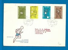 Central America Games postal cover Football, Baseball, Athletics, Boxing stamps