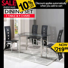 Glass Dining Room Furniture Sets with 5 Pieces