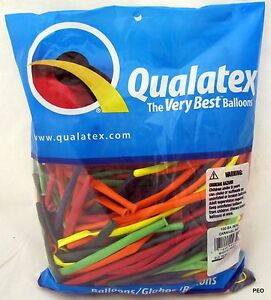 Qualatex Balloons Carnival 100 Ct Random Assortment Animal Twist Sz 260 Balloon
