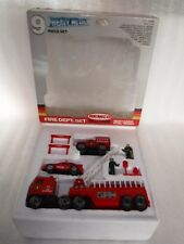 Vintage 1987 Remco Toys Real Steal Fire Dept Set , Boxed ,  Unused.. Rare