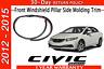 Genuine Honda Civic Front Windshield Pillar Side Molding Trim OEM  73125-TR3-A01