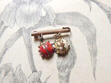 Ancienne broche à décor de coccinelle - Ladybird - bijoux vintage