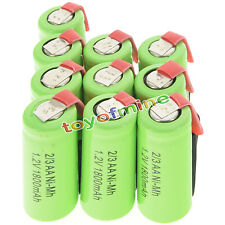 10 pcs 2/3AA 1.2V 1800mAh Ni-MH rechargeable battery