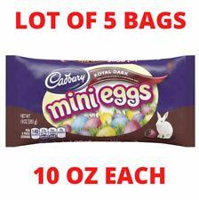 Lot (5) Bags - Cadbury Royal Dark Chocolate Mini Eggs Candy - 10 OZ EACH - 01/21