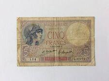 Billet français 5 F Violet 26/3/1925 124 Voir Photo