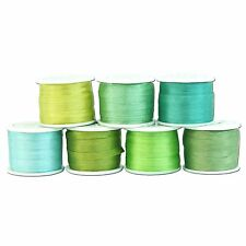77 YDS EMBROIDERY SILK RIBBON 100% SILK 4MM - 7 OCEANVIEW COLORS - by THREADART