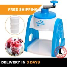 Snow Cone Maker Shaved Ice Ice Crusher Shaver Machine Hand Operated Summer