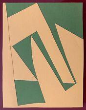 Mortensen Richard collage papier signé daté 61 abstraction Copenhague Bauhaus
