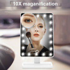 Ovonni 10X Magnifier Portable 20 LED Light Cosmetic Touch Screen Make Up Mirror