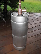 "Thumper Doubler kit -new 5 gallon Beer Keg for Moonshine Still 2"" x 3/4"" Copper"