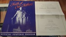 FAITH OF OUR FATHERS Souvenir Program AMPHITHEATRE ROCK CREEK PARK DC 1950