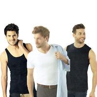 2er Pack Herren Unterziehshirt Muskelshirt Achselhemd Tank Top Shirt Unterhemd