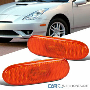 Fit Toyota 00-05 Celica MR2 Spyder Amber Bumper Lights Side Marker Signal Lamps