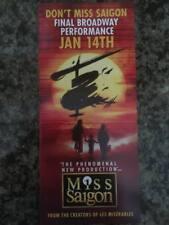Miss Saigon revival   ad/flyer Broadway NYC musical closing ad