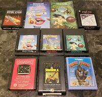 (8) Atari 2600 Game & (2) Manual Lot